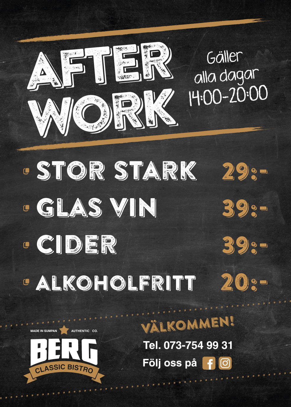 Berg Bistro_After Work Drink